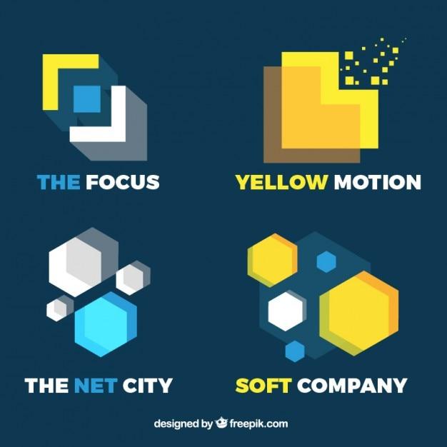 Modern and minimalist logotypes set
