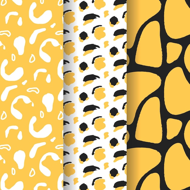 Modern animal print pattern Premium Vector