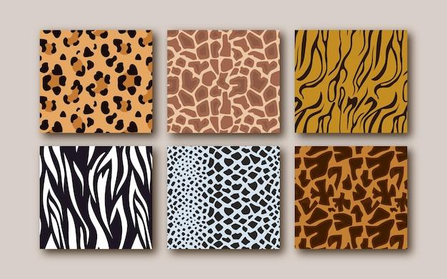 Modern animal print pattern Premium Vector