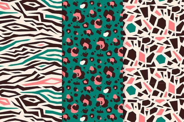 Modern animal print patterns Premium Vector