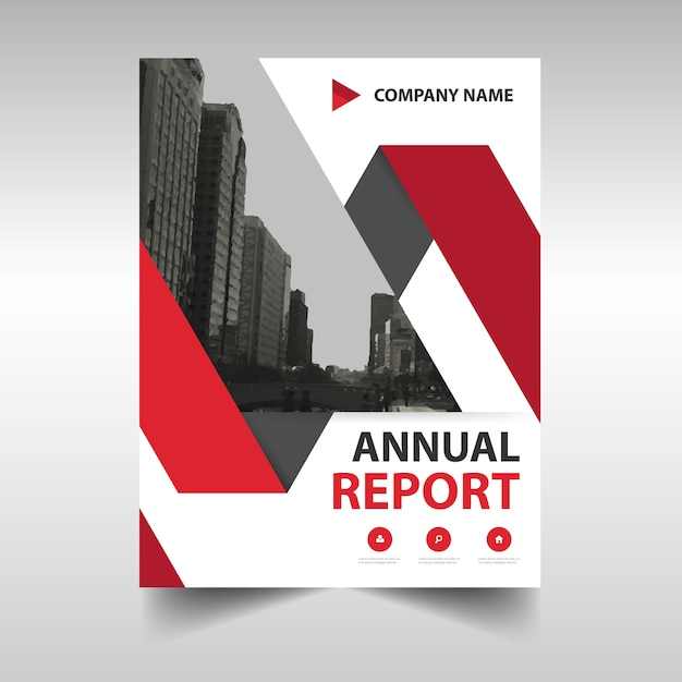 modern annual report cover vector