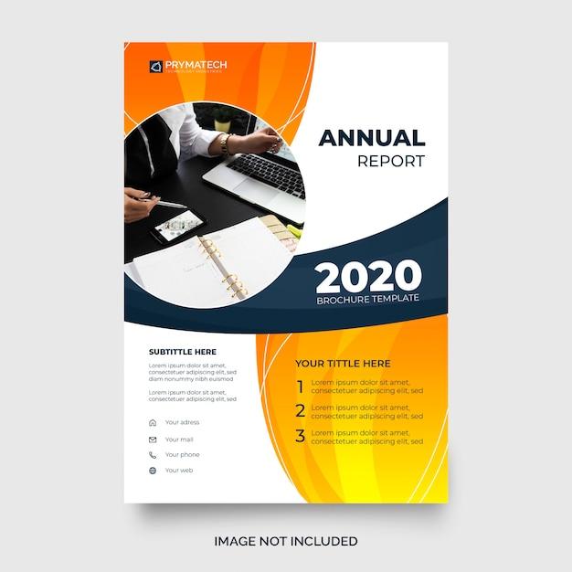 Modello moderno di relazione annuale Vettore gratuito
