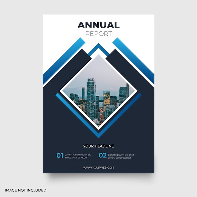 Modern annual report Free Vector