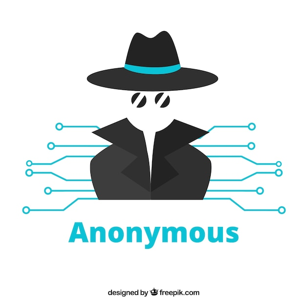 Modern anonymous concept with flat design Free Vector
