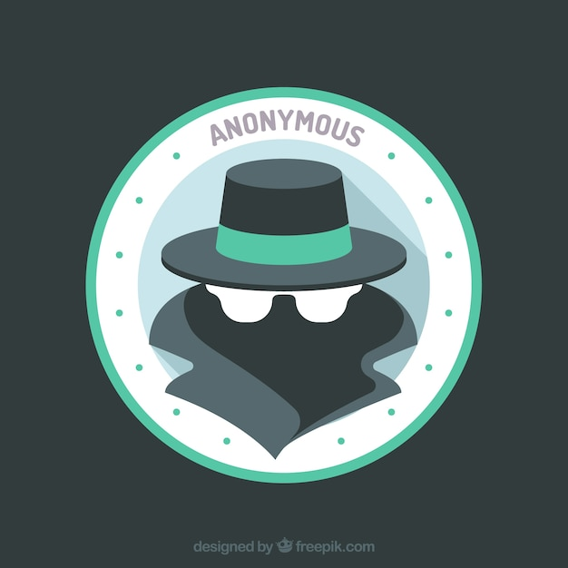 Modern anonymous concept with flat design Premium Vector