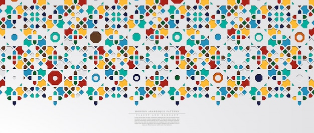 Modern arabesque hexagonal classic pattern background template Premium Vector