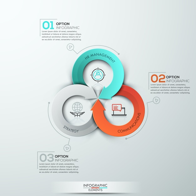 Modern arrow business template. Premium Vector