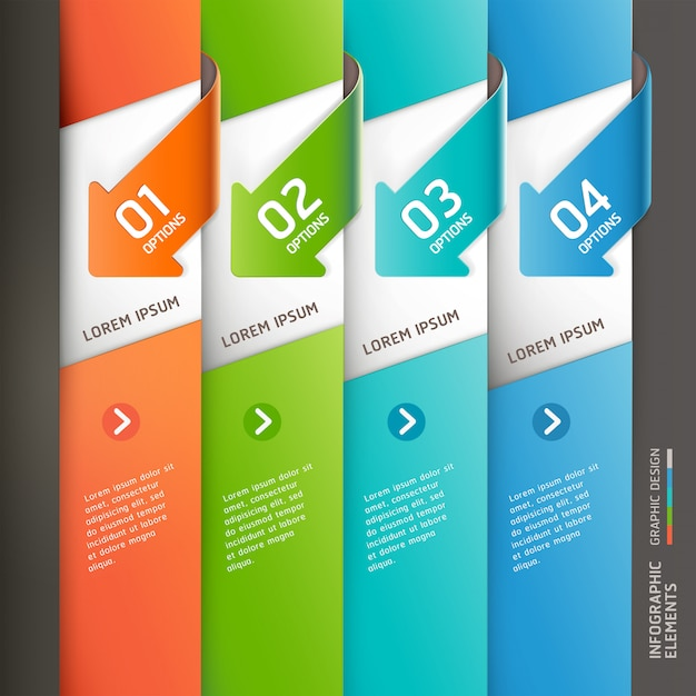 Modern arrow infographics template. Premium Vector