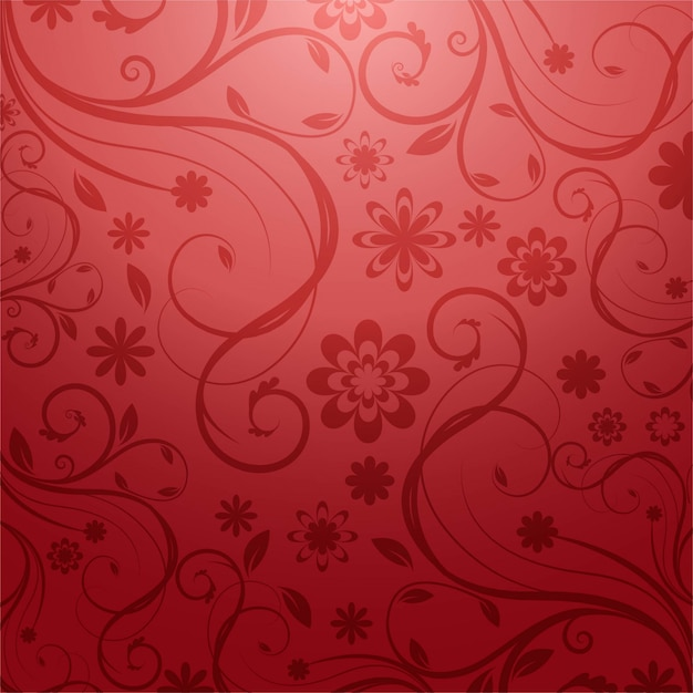 Modern artistic floral background Free Vector