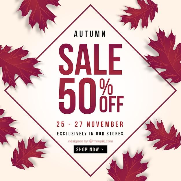 Modern autumn sale background