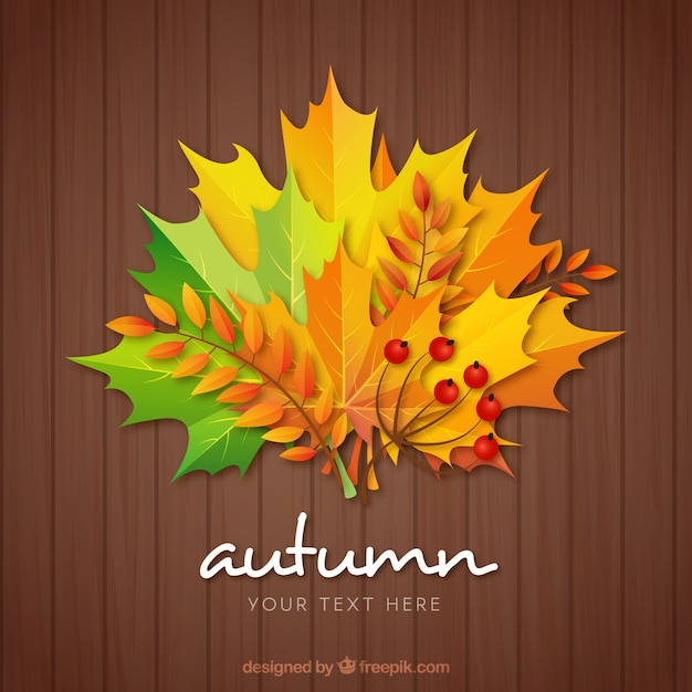 Modern autumnal composition with flat design