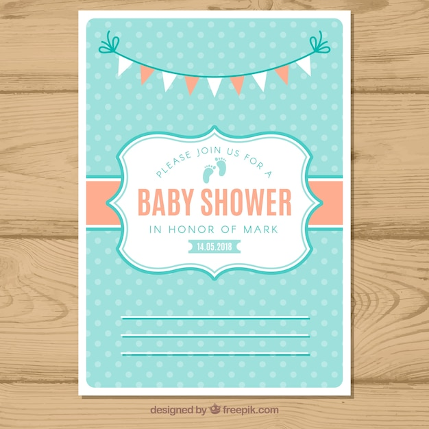 Modern baby shower invitation vector free download modern baby shower invitation free vector stopboris Images