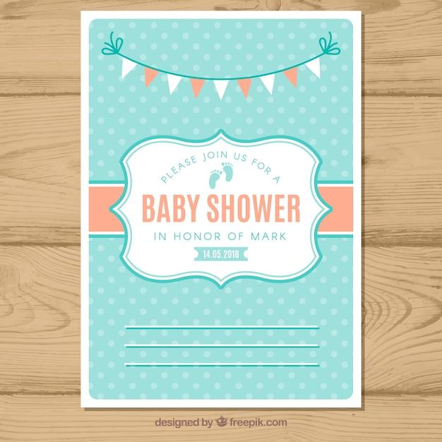 Modern baby shower invitation vector free download modern baby shower invitation free vector filmwisefo