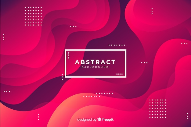 Modern background of abstract shapes Free Vector