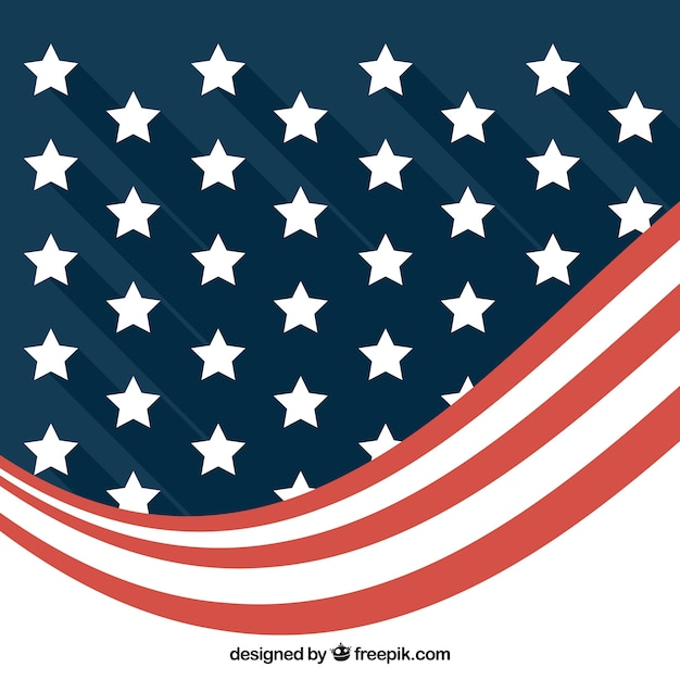 Modern background of abstract american flag