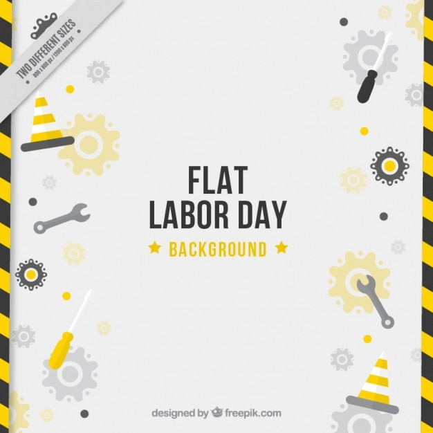 Modern background of labor day with\ tools