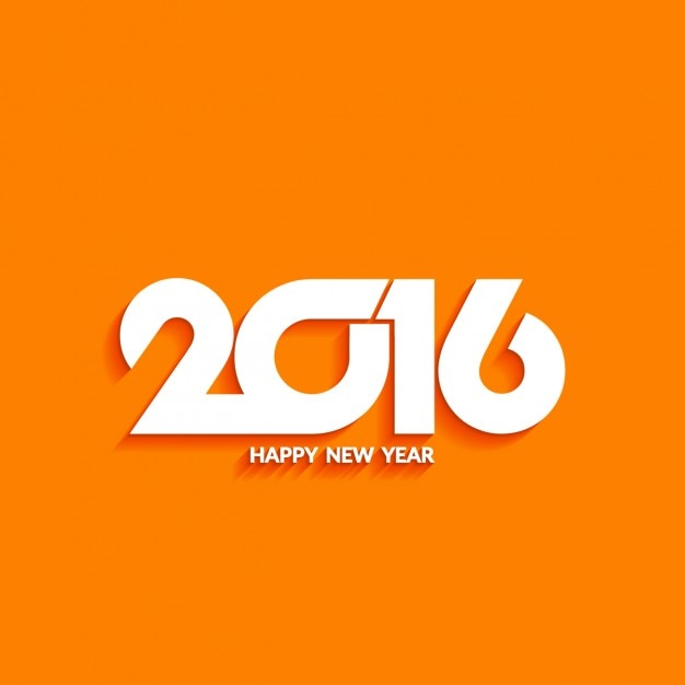 modern background of new year on orange color free vector