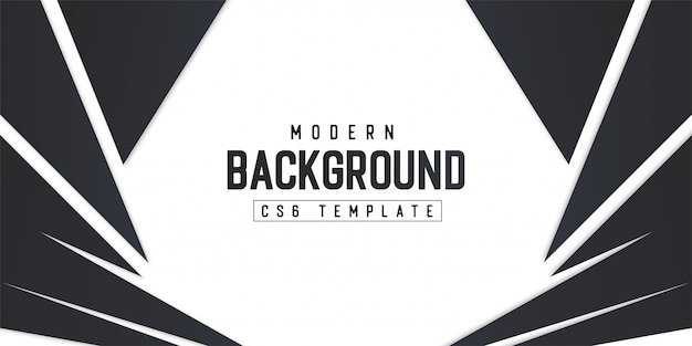 Modern background template with abstract shapes Free Vector