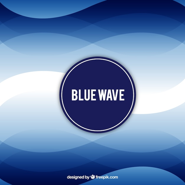 Modern background with blue waves