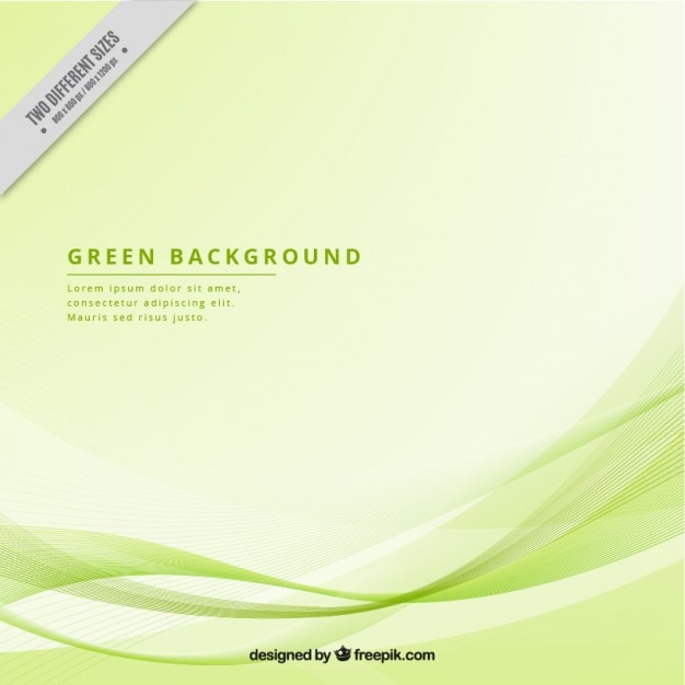 Modern background with green waves Vector | Free Download