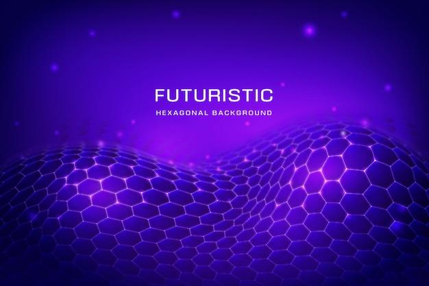 Modern background with hexagonal net Free Vector