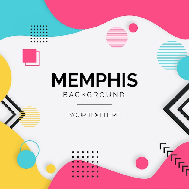 Modern background with memphis elements Free Vector