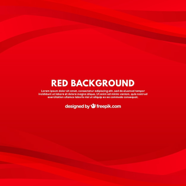 Modern background with red curves Free Vector