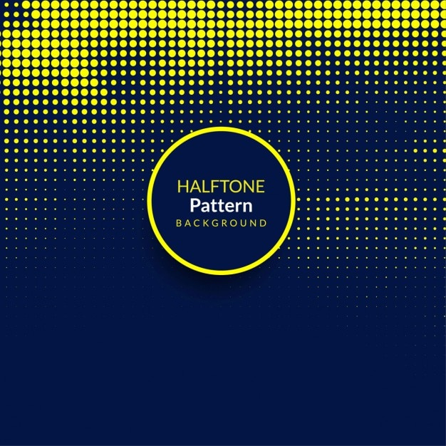 Modern background with yellow halftone dots Free Vector