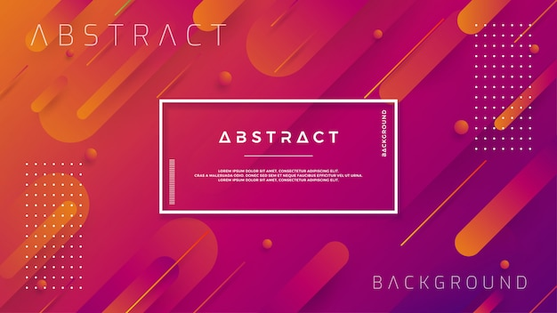 Modern backgrounds with trendy color gradation compositions. Premium Vector
