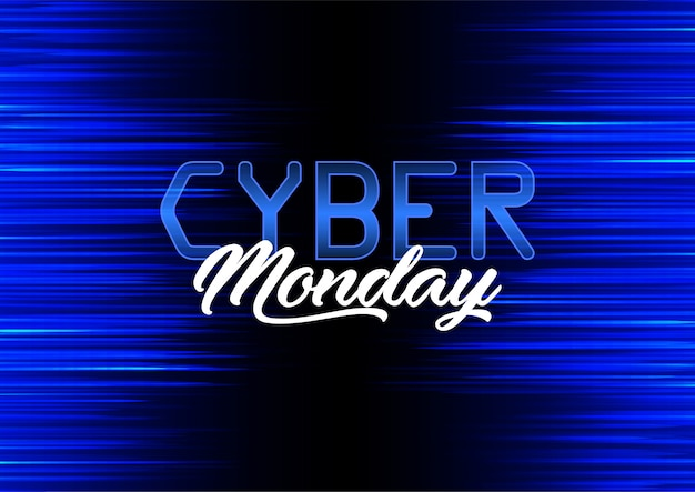 Modern banner design for cyber monday Free Vector
