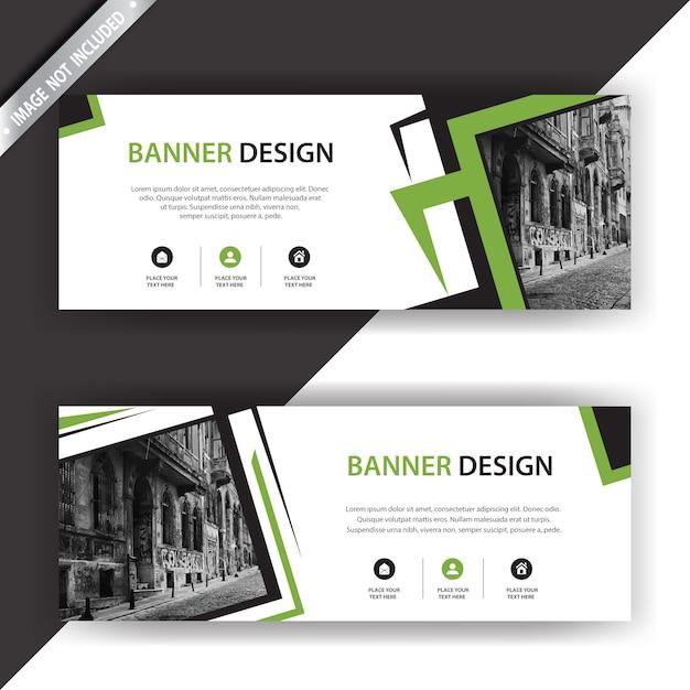 Modern banner design Free Vector