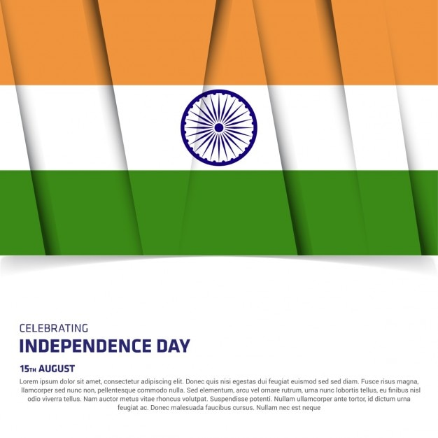 Modern banner for the independence day of india