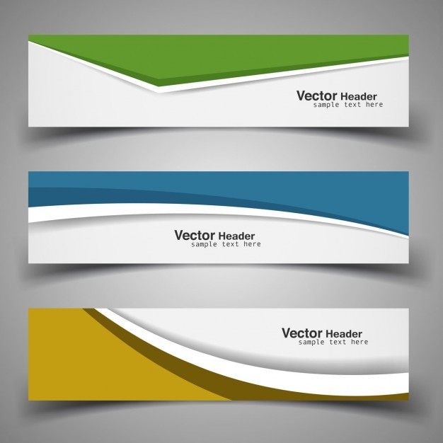 modern banner template set vector free download