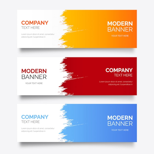 Modern banner template with abstract splash Free Vector