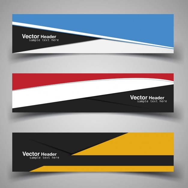 modern banner template vector free download