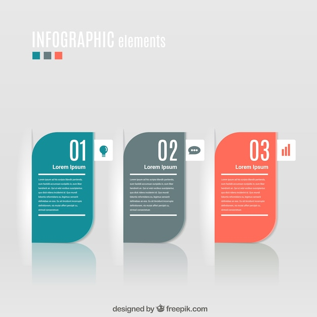 modern banners infographic Free Vector