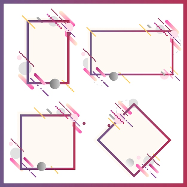 Modern banners in various shapes set illustration Free Vector