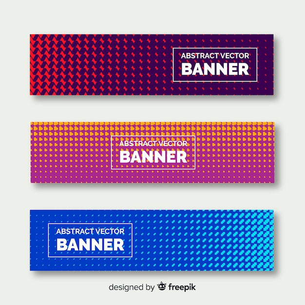 Modern banners with abstract design Free Vector