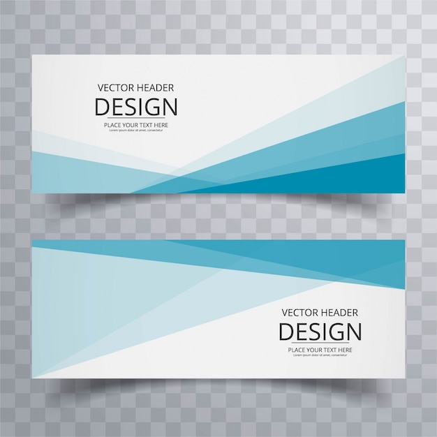 Modern banners Free Vector