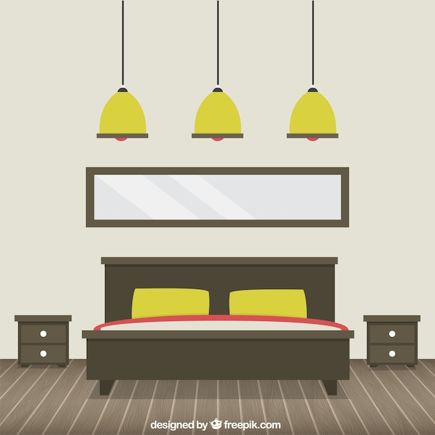 Modern Bedroom Vector Free Download
