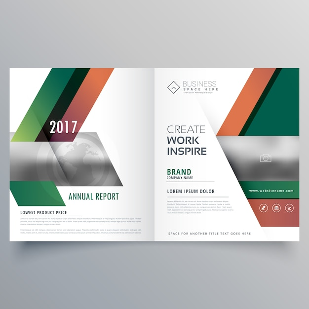 Modern bifold business brochure design