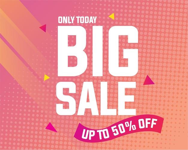Modern big sale banner template Premium Vector