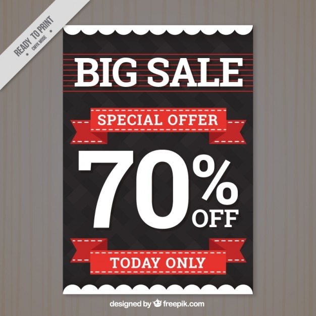 modern big sale flyer template vector free download