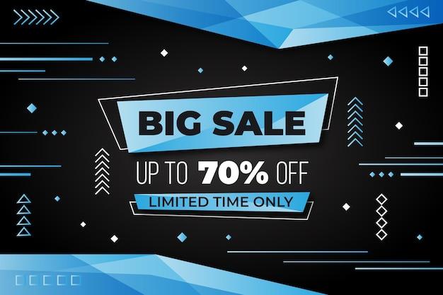 Modern big sales background Premium Vector