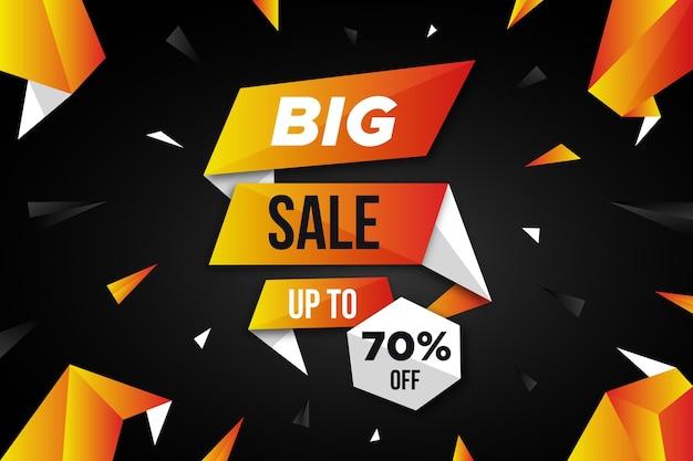 Modern big sales wallpaper Free Vector