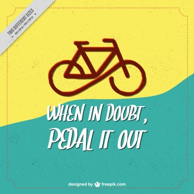 Modern bike background with a inspirational quote