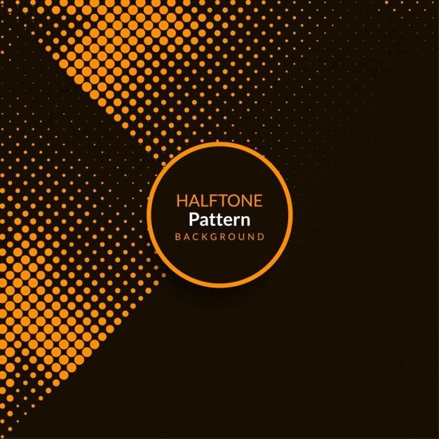 Modern black background with orange halftone dots