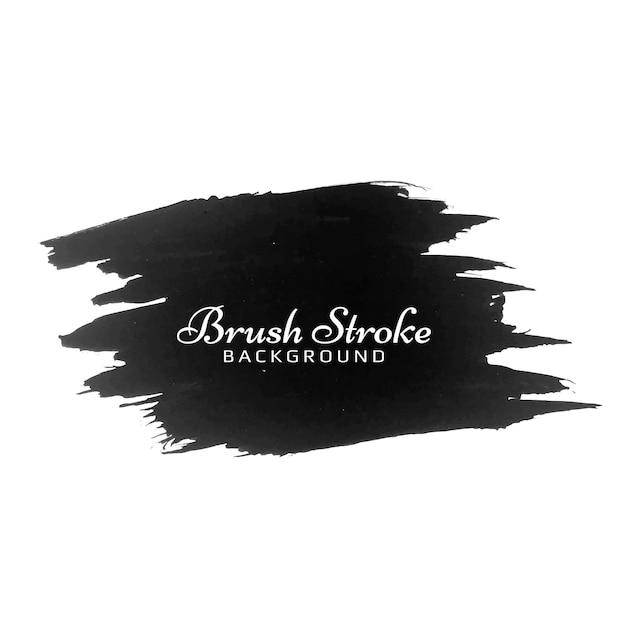 현대 검은 브러시 스트로크 수채화 디자인 디자인 무료 벡터
