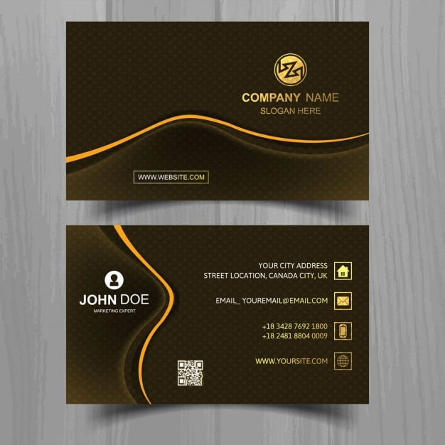 Download vector modern black business card with orange lines modern black business card with orange lines reheart Images