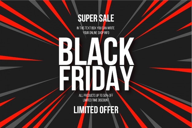 Modern black friday abstract background Free Vector